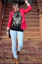 dark brown Rebecca Minkoff bag - tawny dmsx boots - light blue Zara jeans