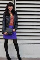 black Vince Camuto boots - black Zara jacket - black Target bag
