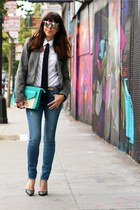 Rich & Skinny jeans - Zara blazer - banana republic shirt