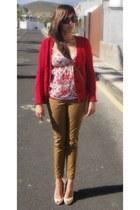 Mango pants - Bershka blouse - Mango cardigan - Massimo Dutti pumps
