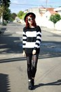 Black-romwe-boots-black-romwe-hat-white-stripes-bad-liten-sweater