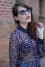 Navy-zara-blouse-dark-brown-o-pato-veste-sunglasses-light-pink-zara-skirt