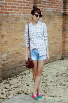 alpargatas Perky shoes flats - maria fil shirt - Levis bag