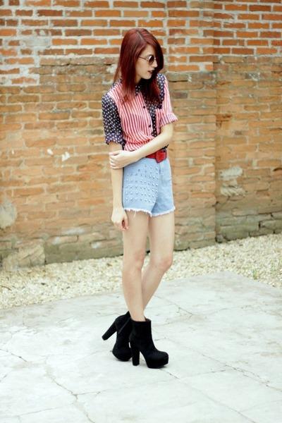 ruby red flag shirt mixmoss shirt - black OASAP boots
