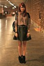 Black-fringe-arezzo-boots-army-green-nowistyle-dress