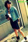 Black-lamb-skirt-levi-jacket-american-apparel-t-shirt-forever-21-necklace-