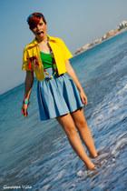 handmade blazer - handmade skirt