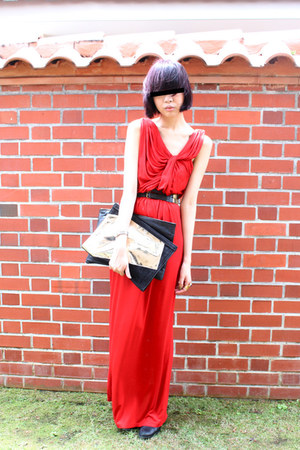 H&M dress - Alexander Wang bag - Mini Market wedges