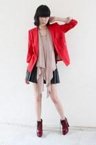 Alexander Wang shoes - Zara blazer - The Scarlet Room skirt - Boldpoetlivejourna