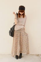 pink LUCYD ACYD top - beige The Scarlet Room pants - black Alexander Wang bag -