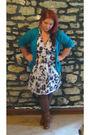 Blue-victorias-secret-cardigan-tag-missing-dress-tights-brown-forever-21-b