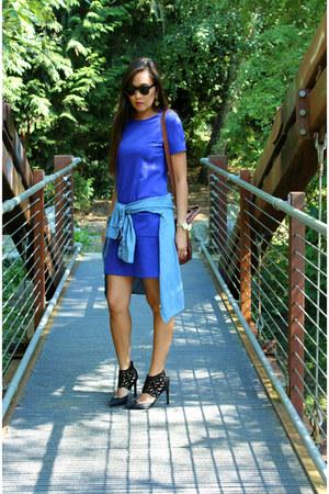 shift Gap dress - tote tory burch bag - Dolce Vita heels