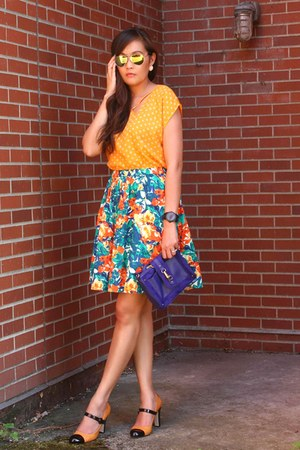 JCPenney skirt - BCBGeneration top - Nine West heels