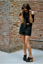 gray American Apparel top - black Forever 21 shorts - black Urban Outfitters sca
