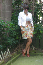 JCrew jacket - banana republic top - forever 21 belt - Beacons closet skirt - Ma