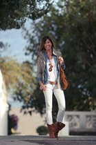 blazer - jeans - bag - t-shirt - necklace