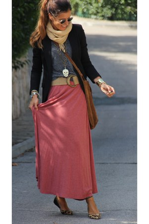blazer - bag - sunglasses - belt - skirt