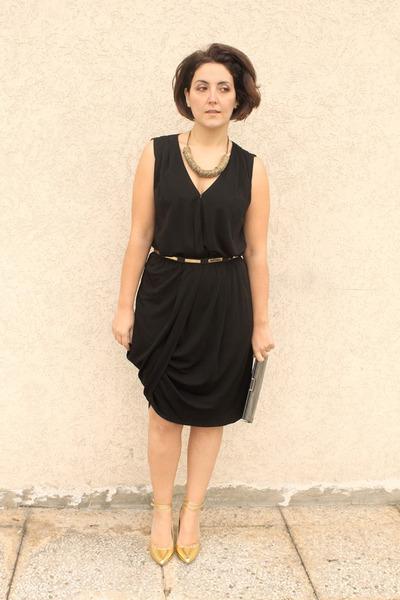 "Black ForMe Elena Mirò Dresses, Gold Mango Heels | ""Little Black ..."