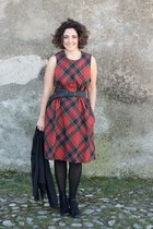 ruby red tartan dress