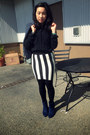 Navy-ankle-boots-payless-boots-navy-wool-thrifted-blazer-h-m-shirt