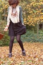 H&M scarf - vintage shoes - Made by Mummy necklace - H&M skirt - Petit Bateau sh
