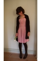 vintage dress - Pauline B blouse - vintage shoes - Mums made it necklace
