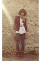 H&M blazer - vintage top - H&M jeans - vintage boots - vintage accessories