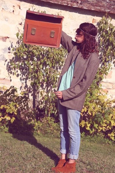 Weill blazer - H&M blouse - Claires accessories - Zara jeans - Minnetonka shoes