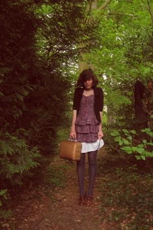 Zara dress - vintage accessories - H&M coat