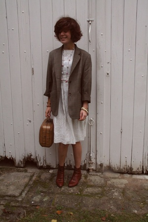 vintage from Ebay shoes - Made by Mummy necklace - Daddys old Weill coat - vinta