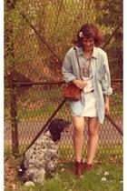 Unlabled dress - Dads vintage stuff blazer - vintage accessories