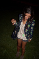 Zara jacket - H&M t-shirt - Zara shorts - delishoes shoes
