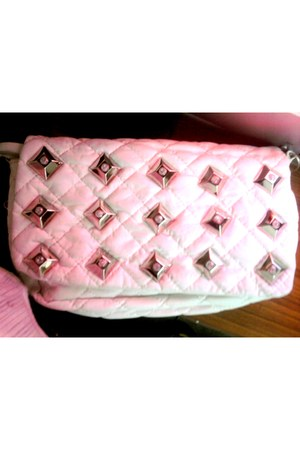 eggshell white bag quilted bag - Studs bag