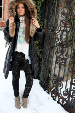 black puffy down Mackage coat