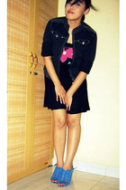 Forever 21 dress - arnessio jacket - belle shoes