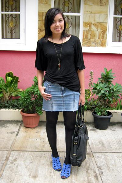 random shirt - DIY skirt - random tights - belle shoes