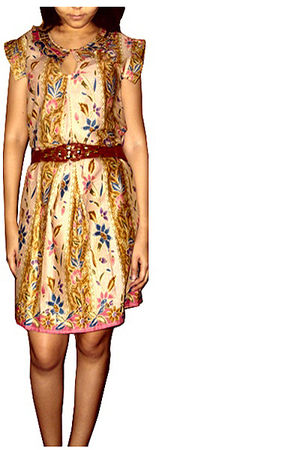beige Kampoeng Bali dress - brown Vintage Pumpkin belt