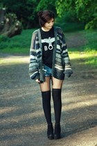 Boy London shirt - Primark shorts - Urban Outfitters cardigan