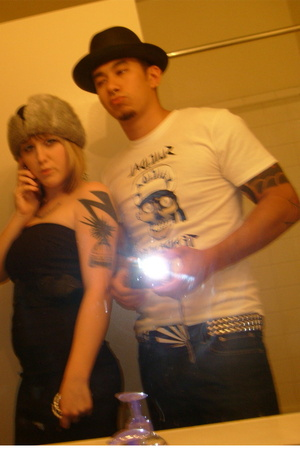 forever 21 dress - hat - Hot Topic t-shirt - belt - Levis jeans - penners hat