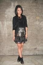 black Rockwell Bazaar blazer - Cosmopolitan necklace - skirt