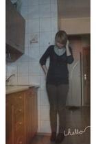 Mango sweater - Top Secret blouse - Zara pants - Zara boots - vintage necklace