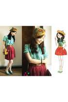 tinytoadstool hat - skirt - shirt - accessories