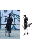 black COS shirt - black asos shoes