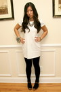 White-forever-21-dress-black-forever-21-tights-simply-vera-necklace