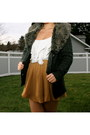 Mustard-chiffon-forever-21-skirt-gray-romeo-and-juliet-couture-sweater