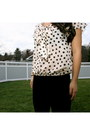 Light-pink-polka-dot-h-m-shirt-black-h-m-leggings