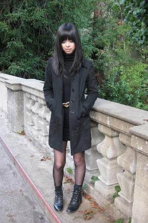 black aa u neck dress dress - black ebay shoes