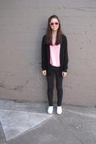 Jigsaw - H&M top - G Star jeans - Keds