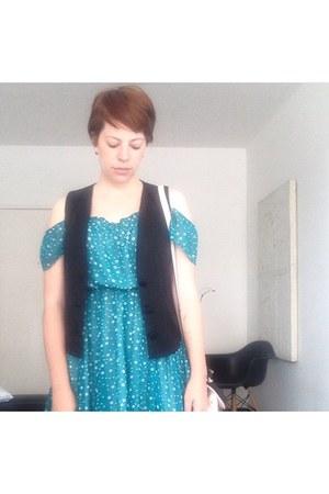 Zara dress - emporio armani vest