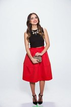 red red Express skirt